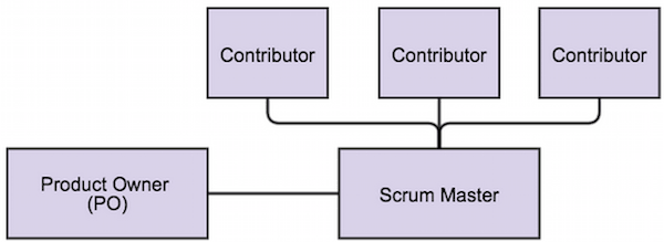Product Owner, Scrum Master, Contributor Relationship